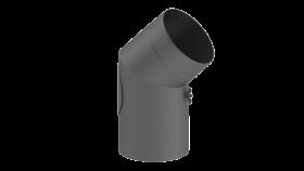 Coude fixe 45° - double paroi - avec trappe d'entretien - gris - TEC-FR-ISOLINE