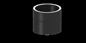 Elément droit 150mm noir - double paroi – TEC-FR-ISOLINE