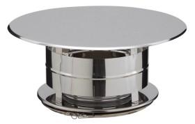 Chapeau aspirateur simple - double paroi - inox-inox - Poujoulat