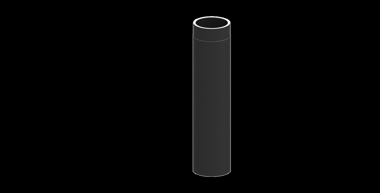 el ment droit 750mm noir double paroi conduit po le bois tec fr isoline chemineeo. Black Bedroom Furniture Sets. Home Design Ideas