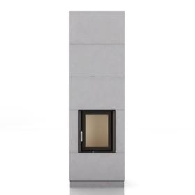 Foyer BRUNNER KSO 33q, avec accumulation de chaleur 1,7 kW, avec porte basculante