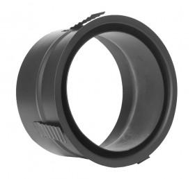 Manchon de raccordement double paroi en inox avec ressort de centrage- noir - TEC-FR