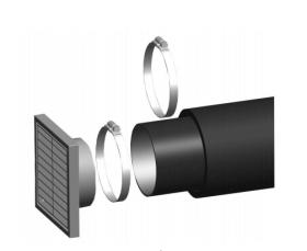 Jotul - Kit pour alimentation en air de combustion externe, Ø 80 mm