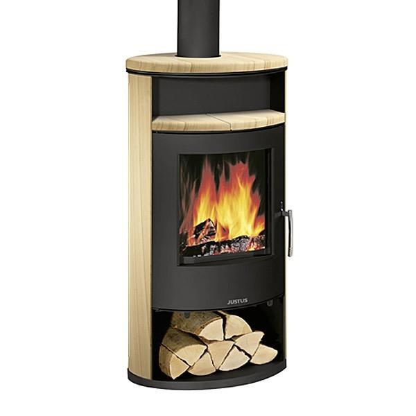 poele a bois justus island 7 6 5 kw chemineeo. Black Bedroom Furniture Sets. Home Design Ideas