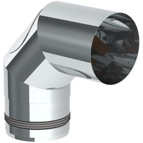 Conduit poêle à granule - Coude fixe 90° avec ouverture d'entretien - non peint - Tecnovis Pellet-Line