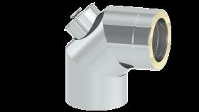 Coude 87° avec trappe d'entretien - inox - double paroi - TEC-DW-DESIGN
