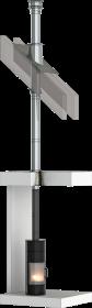 Conduit de cheminée inox double paroi - Kit intérieur TEC-DW-Standard - Ø160mm
