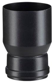 Réduction émailée noir mat pour poêle a granulés - Poujoulat