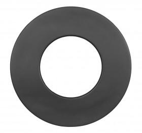Rosace murale 85 mm noir - Conduit poêle à bois - TEC-FR-ISOLINE