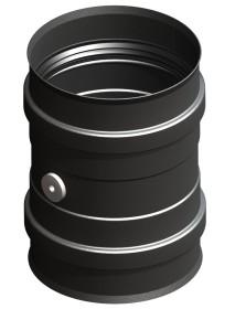 Adaptateur pour chaudiere avec double manchon fileté et element de mesure, noir