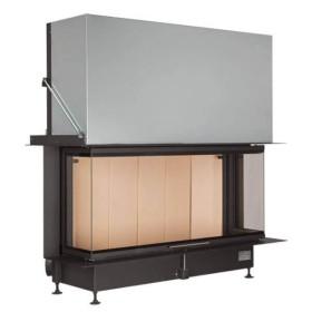Insert bois BRUNNER Panoramique 51/25/101/25 – 12kW avec porte relevable (easy lift)