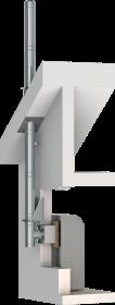 Conduit de cheminée double paroi inox - Kit extérieur TEC-DW-Standard - Ø160mm