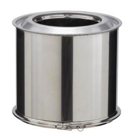 Elément droit - 250 mm - double paroi - inox-inox - Poujoulat