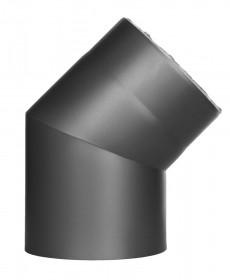Coude fixe 45° - double paroi - gris - TEC-FR-ISOLINE