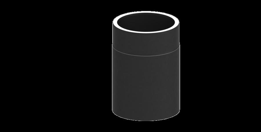 el ment droit 250mm noir condtui double paroi pour po le bois tec fr isoline chemineeo. Black Bedroom Furniture Sets. Home Design Ideas