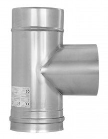 Té de raccordement avec larmier  87° - simple paroi - TEC-EW-CLASSIC