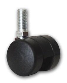 Accessoires de cheminée - 4 roulettes pour porte bûches - Lienbacher