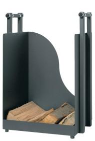 Range-bûches rectangulaire epoxy gris anthracite - Lienbacher