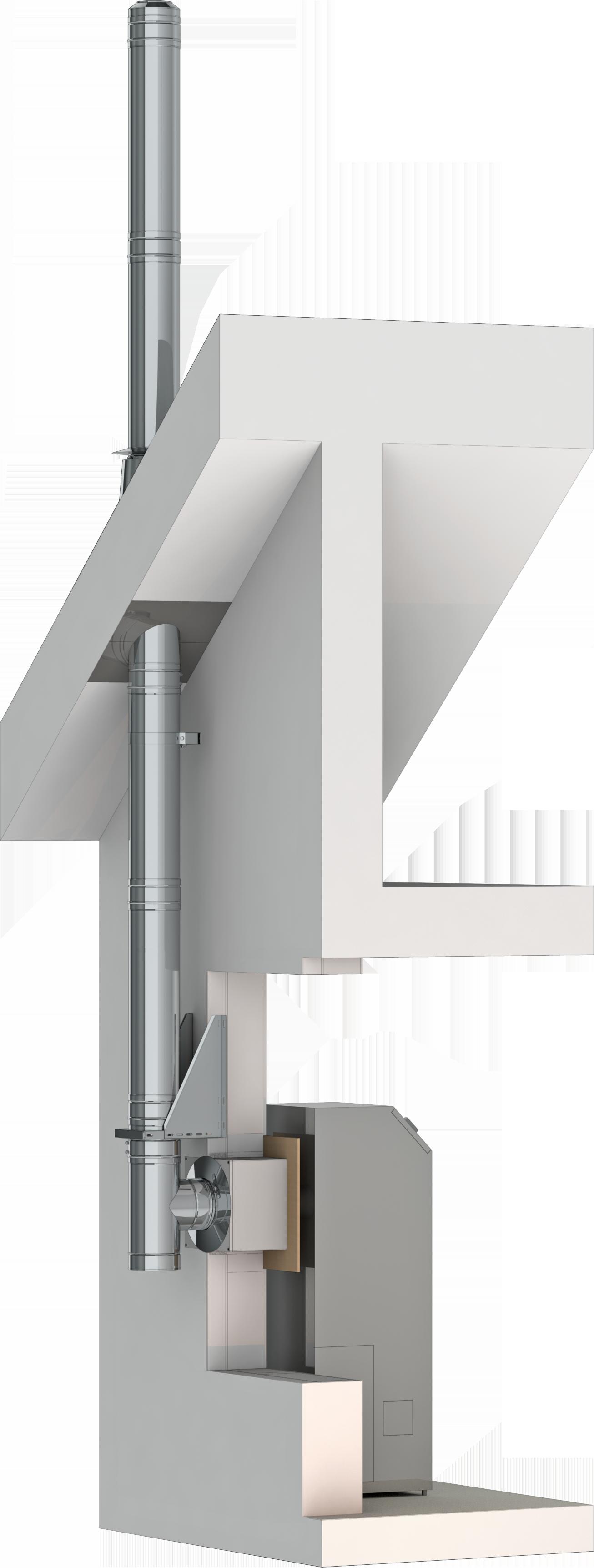 Conduit de cheminée double paroi inox - Kit extérieur TEC-DW-Standard - Ø150mm