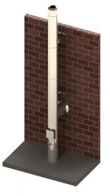 Conduit de cheminée double paroi inox - Kit extérieur TEC-DW-DESIGN - Ø130mm