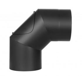 Coude fixe 90° - double paroi - avec trappe d'entretien - noir – TEC-FR-ISOLINE