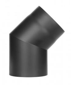 Coude 45° noir - conduit poêle à bois  - TEC-FR