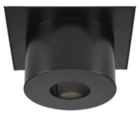 Plaque finition ca conduit noir H22 - RAL 9019 - raccordement émaillée - Poujoulat