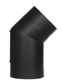 Coude fixe 45° - double paroi - avec trappe d'entretien - noir – TEC-FR-ISOLINE