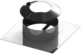 Plaque de fixation - avec collerette d'étanchéité - Tecnovis TEC-EW-CLASSIC