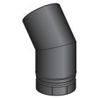 Coude a segment noir mat 45° - poêle a granule - Poujoulat