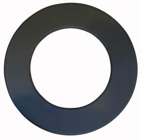 Rosace pour élément droit - finition RAL 9019 - inox-galva - Poujoulat