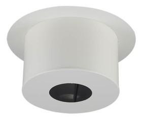 Finition plaf.ronde IG H220 - blanc - raccordement émaillée - Poujoulat