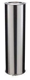 Elément droit - 1000 mm - double paroi - inox-inox - Poujoulat