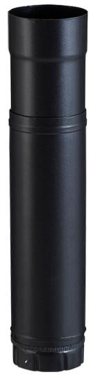 élément Zoom noir mat réglable de 51 à 86 cm pour poêle a granulés - Poujoulat