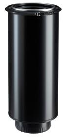 Elément droit finition 150ig-150 em - RAL 9019 - inox-galva - Poujoulat