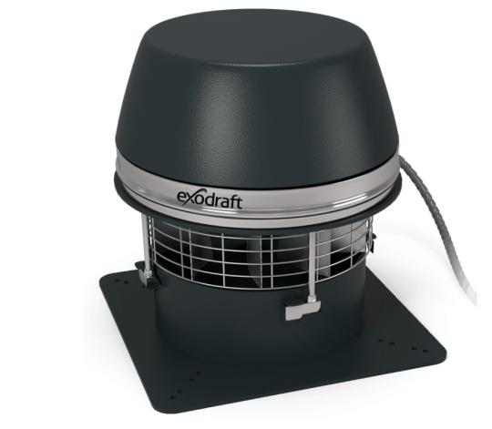 Extracteur de fumée électrique Exodraft RSHT - extraction horizontale - haute température maxi 700°
