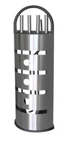 Serviteur de cheminée 4 accessoires, en acier inoxydable - Lienbacher