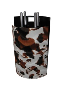 Serviteur de cheminée en simili-cuir, 4 accessoires - Lienbacher