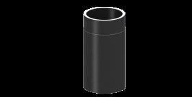 Elément droit 330mm noir - conduit double paroi – TEC-FR-ISOLINE