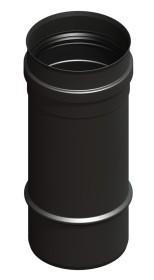 Elément droit 250mm, noir