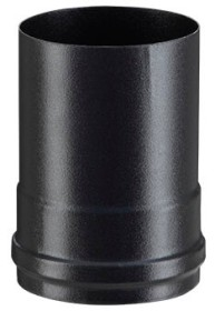 Adaptateur noir mat 80F/80F pour poêle a granulés - Poujoulat