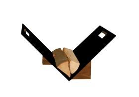 Porte bûche epoxy noir revêtu - Lienbacher