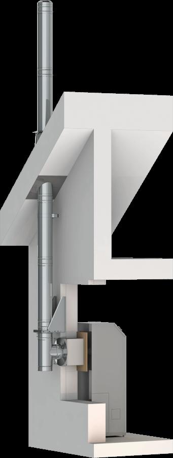 Conduit de cheminée inox double paroi - Kit extérieur TEC-DW-Standard - Ø180mm