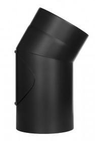 Coude fixe 30° - double paroi - avec trappe d'entretien - noir – TEC-FR-ISOLINE