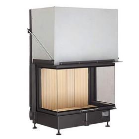 Insert bois BRUNNER Panoramique 57/40/85/40 – 13,5kW avec porte relevable (easy lift)