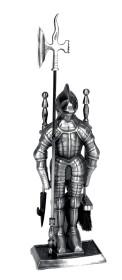 Serviteur de cheminée chevalier en acier inoxydable, 3 pièces - Lienbacher