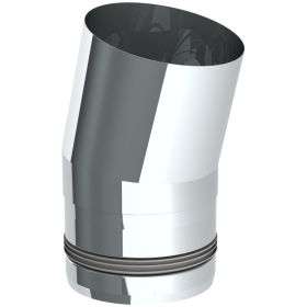 Conduit poêle à granule - Coude fixe 15° - non peint - Tecnovis Pellet-Line