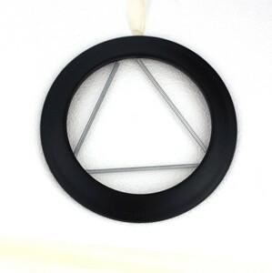 Rosace émaillée noir mat pour poêle a bois - Poujoulat