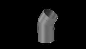 Coude fixe 30° - double paroi - avec trappe d'entretien - gris - TEC-FR-ISOLINE
