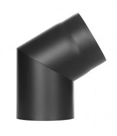 Coude 60° noir - conduit poêle à bois - TEC-FR